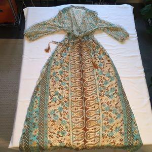 Dresses & Skirts - Vintage chiffon maxi dress / maxi cardigan M